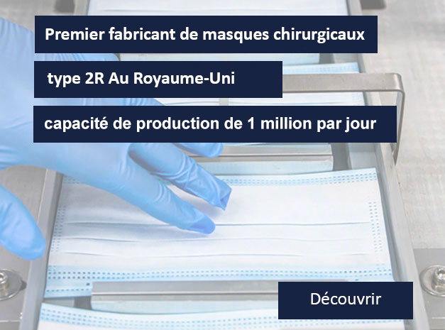 CMT groupe premier fabricant de masques en UK